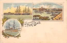 Egypte / Topo - Belle Oblitération - 69 - Souvenir De Port Said - Litho - Défaut - Egypte