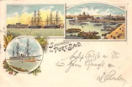 Egypte / Topo - Belle Oblitération - 70 - Souvenir De Port Said - Litho - - Egypte