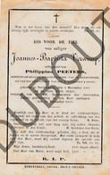 Doodsprentje Joannes-Baptista Verwimp °1849 Noorderwijk †1883 / Echtg. Philippina Peeters  (F244) - Obituary Notices