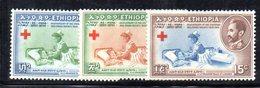 ETP88B - ETIOPIA 1955 , Yvert  N 330/332  ***  MNH  CROCE ROSSA - Ethiopia