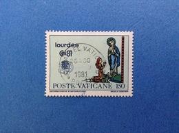 1981 VATICANO FRANCOBOLLO USATO STAMP USED CONGRESSO EUCARISTICO INTERNAZIONALE LOURDES 150 LIRE - Vatican