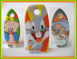 Looney Tunes Surf Pendentifs... Lot De 3 Feves ... Ref AFF : 3-2008 .. (pan 0043) - Dessins Animés