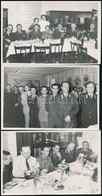 Cca 1930-1940 A Magyar Királyi Posta Vezérkara, 3 Db Fotó, 9×14 Cm - Autres Collections