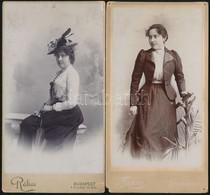 Cca 1890 Hölgydivat. 3 Db Keményhátú Fotó 11x21 Cm - Other Collections
