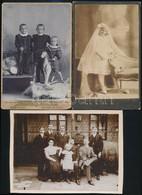 Cca 1902 Keményhátú Műtermi Fotók,7 Db, Különböző Műtermekből, Salgó Sándor, Sinayberger, 16×11 és 20×11 Cm Közötti Mére - Other Collections