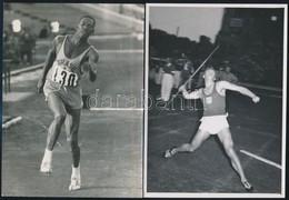 Cca 1956-1970 Régi Idők Sportolói, 8 Db Sajtófotó, Egy Részük Hátulján Feliratozva, Különböző Méretben - Autres Collections