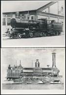 4 Db Vasúti Járműről Készült Fotó 16x12 Cm - Other Collections