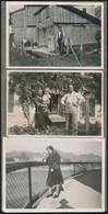 Cca 1930-1940 Régi Fotóalbum Tirolból, Családi életképekkel, 52 Db, 6×8 Cm - Other Collections