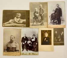 Cca 1900 6 Db Keményhátú Fotó Tétel 6x9 - 17x21 Cm-ig - Other Collections