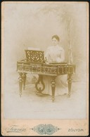 Cca 1900 Zólyom, Cimbalmos Fotója / Zolyom Dulcimer Player. 17x11 Cm - Other Collections