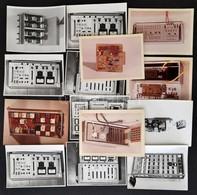 Régi Műszaki Készülékekről Készült Fotók, 14 Db, 9x12 Cm és 8x11 Cm - Autres Collections