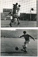 Futballjelenetek (Honvéd-Rapid, Kinizsi-Ausztria, Magyarország-Ausztria), 3 Db Fotó, Kozák Lajos Pecsétjével, 12x18 Cm - Autres Collections