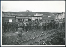 1942 A Szeretfalva-Déda-vasútvonal építésének Munkásai, Utólagosan Előhívott Fotó, Hátoldalon Feliratozva, 13×18 Cm / Wo - Other Collections
