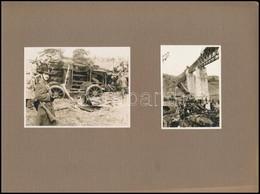 1931 Biatorbágyi Vasúti Merénylet, 3 Db Vintage Fotó + A Képes Pesti Hírlap Erről Tudósító Száma, 8x6 Cm és 8x11 Cm Közö - Autres Collections