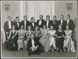 1934 A Kispesti Atlétikai Klub Táncversenye, Hátoldalon Feliratozott Fotó Schäffer Fotószalonjából, Pecséttel Jelzett, 1 - Other Collections
