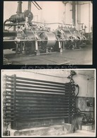 Cca 1925 Budapest, Röck István Gépgyára, 13 Db Vintage Fotó és Egy Boríték A Gyárból, 13x18 Cm és 8x11 Cm Között + Cca 1 - Autres Collections