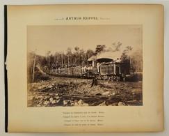 Cca 1890 Mexikó, Cukornád Szállító Vonat, Arthur Koppel, Kartonra Kasírozva, Feliratozva, 20x27 Cm / Mexico, Transport O - Autres Collections