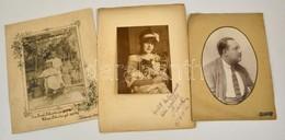 Cca 1900-1918 3 Db Nagyméretű Fotó, Klf Magyar Fényképészektől Kb 25x37 Cm - Other Collections