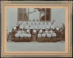 Cca 1910-1921 Iskolai Csoportképek, 2 Db Kartonra Kasírozott Fotó, 10×15 és 16×22 Cm - Autres Collections