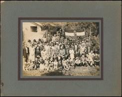 1935 Sao Paulo, Apostol János (1903-1991) Református Lelkész és Gyülekezete, Háttérben Nemzeti Kiscímeres, Szentkoronás  - Other Collections