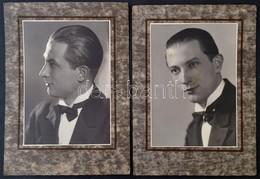 Cca 1920 Férfiportré, 2 Db Fotó Kartonon, Paris, Jacques & Jo, 22x16 Cm - Autres Collections