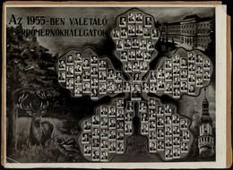 1955 Sopron, Az Erdőmérnöki Főiskola Végzős Hallgatói, Tablókép, Kartonra Ragasztva, Foto Bolygó Pécs, 22×29,5 Cm - Other Collections