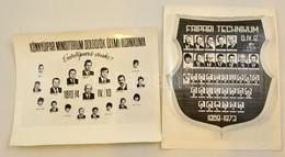 1969-1970 2 Db Tablókép, 25×31 Cm - Autres Collections