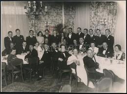 1939 A Budapesti Német Birodalmi Iskola érettségi Bankettje A Gundelben, Fotó Beller Rezső (Kurir) Budapesti Műterméből, - Other Collections
