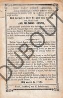 Doodsprentje Jan Mathijs Geuns °1860 Nederweert † 1876 (F245) - Obituary Notices