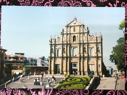 MACAU RUINS OF ST. PAUL'S  PPC PRINTED BY CLM. - China