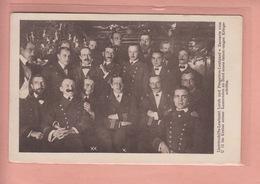OLD POSTCARD -  MILITARY -  NAVY - AUSTRIA WWI - SUBMARINE CREW - LEUTNANT LERCH AND V. ZACCARIA - Weltkrieg 1914-18