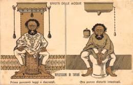 Ethiopie / Royauté - 12 - Carte Illustrée - Caricature - Défaut - Ethiopie