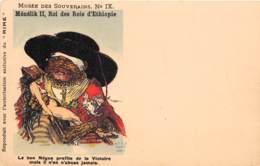 Ethiopie / Royauté - 15 - Carte Illustrée - Ménélik II - Illustrateur - Ethiopie