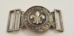 Cserkész övcsat, Fém, H: 9 Cm - Scoutisme