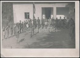 Cca 1930 Cserkészek Eskütétele, Zászlóavatás, Fotó, 13x18 Cm - Scoutisme
