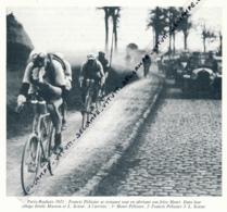 CYCLISME : PHOTO (1921), PARIS-ROUBAIX, FRANCIS PELISSIER SE RESTAURE TOUT EN ABRITANT SON FRERE, COUPURE LIVRE - Cyclisme