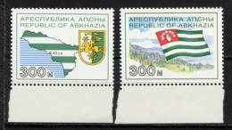 ABKHAZIE ABKHAZIA 1993, Drapeau Et Carte, 2 Valeurs, Neufs / Mint. R1153c - Géorgie