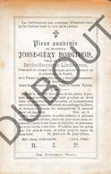 Doodsprentje Josse-géry Borginon °1812 Pamel (Roosdaal) †1897 / Veuf De Barbe-Henriette Lindemans (F246) - Obituary Notices