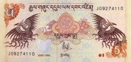 Bhutan 5 Ngultrum, P-28a (2006) - UNC - Bhutan