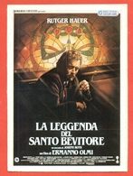 CINEMA-CARTOLINA MANIFESTO FILM-LA LEGGENDA DEL SANTO BEVITORE-RUTGER HAUER-ANTHONY QUAYLE - Manifesti Su Carta