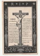 Décès Hubert ADAM Vivy 1865 Et De Marie-Catherine GROSVARLET Hour 1883 - Images Religieuses