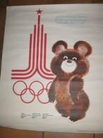 Affiche Officielle Des 22ème Olympiades. MOSCOU, Du 19 Juillet Au 3 Août 1980. Format: 56 X 44 Cm. Non Pliée. TB état - Jeux Olympiques