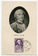 10210  FRANCE  N° 856  Buffon  Oblitération Ord. Montbard  Du 17.3.50  TB/TTB - Maximum Cards