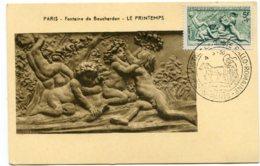 10212  FRANCE  N° 859 Le Printemps Par Bouchardon OSI  La Poste Gallo-Romaine   Du 4.3.50  TB - Maximum Cards