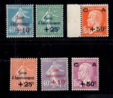 France Caisse D'Amortissement YT N° 246/251 Neufs ** MNH. TB. A Saisir! - France