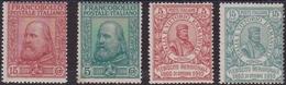 Italia Regno 736 ** 1910 - Garibaldi N. 87/90. Cert. Biondi. Cat. € 2400,00.  MNH - 1900-44 Victor Emmanuel III