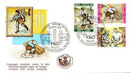 BELGIQUE. N°1243-5 De 1963 Sur Enveloppe 1er Jour. Campagne Mondiale Contre La Faim. - Contro La Fame