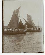 Mer Ocean Voilier 1900 1910 Sepia Lumière Superbe - Boten