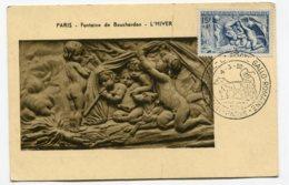 10218  FRANCE  N° 862 L'Hiver Par Bouchardon OSI  La Poste Gallo-romaine  à Paris  Du 4.3.50  TB - Maximum Cards