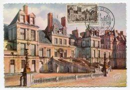 10219  FRANCE  N° 878  Fontainebleau  OSI    Du 20.1.51  TB - Maximum Cards